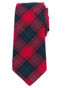 preppie tartan check tie red