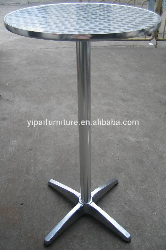 round table stainless steel pub folding bar height bar cocktail tables