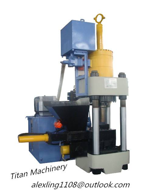 (Titan) Y83-3150 metal swarf briquetting machine