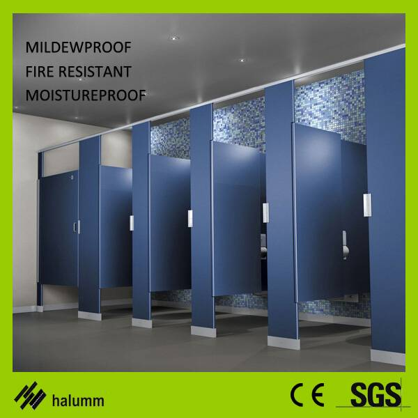 Toilet cubicle phenolic HPL laminate panel water proof toilet cubicle partition