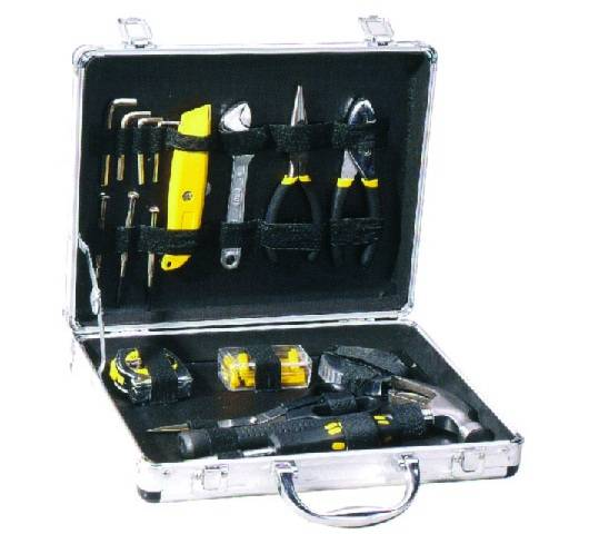 130PC Tool Set with Pliers, Metal Tool Box with Tools Set