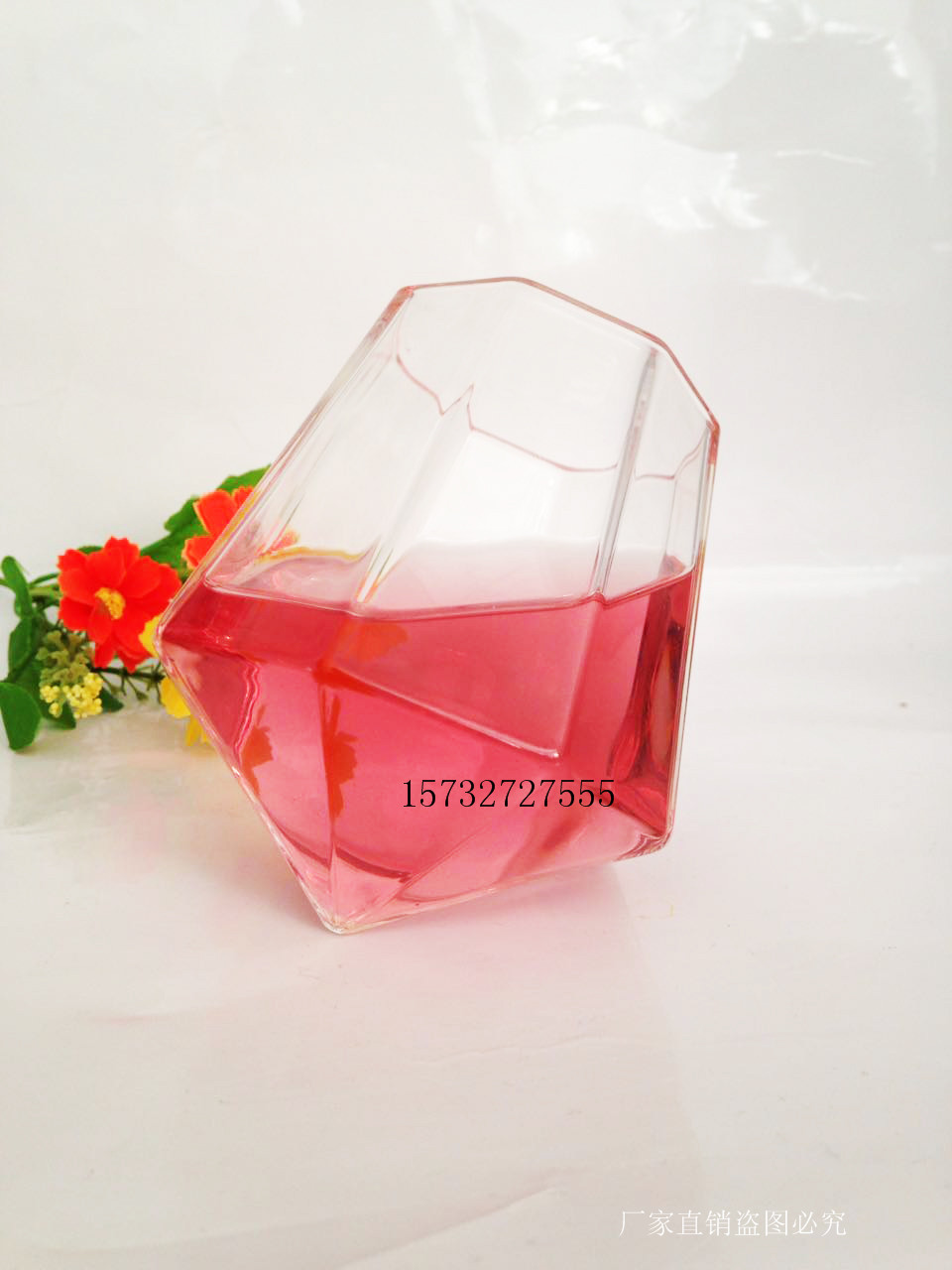diamond shape round whisky glass cup,vodka glass cup