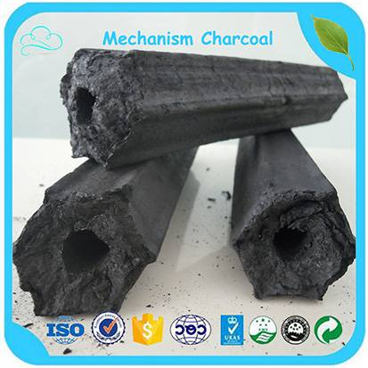 Long Burning Time 5-37cm Hexagonal Mechanism Charcoal / Sawdust Charcoal For BBQ Charcoal