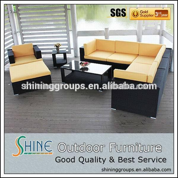 Sectional outdoor indoor/furniture living room rattan sofa set C308