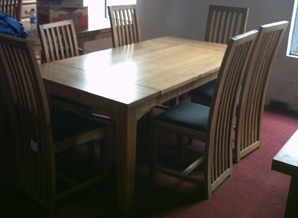 Oak Dining Table & Chair Set