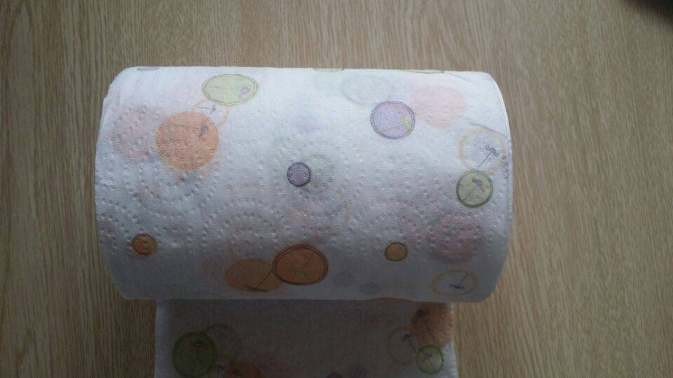 Color Bubble print toilet paper