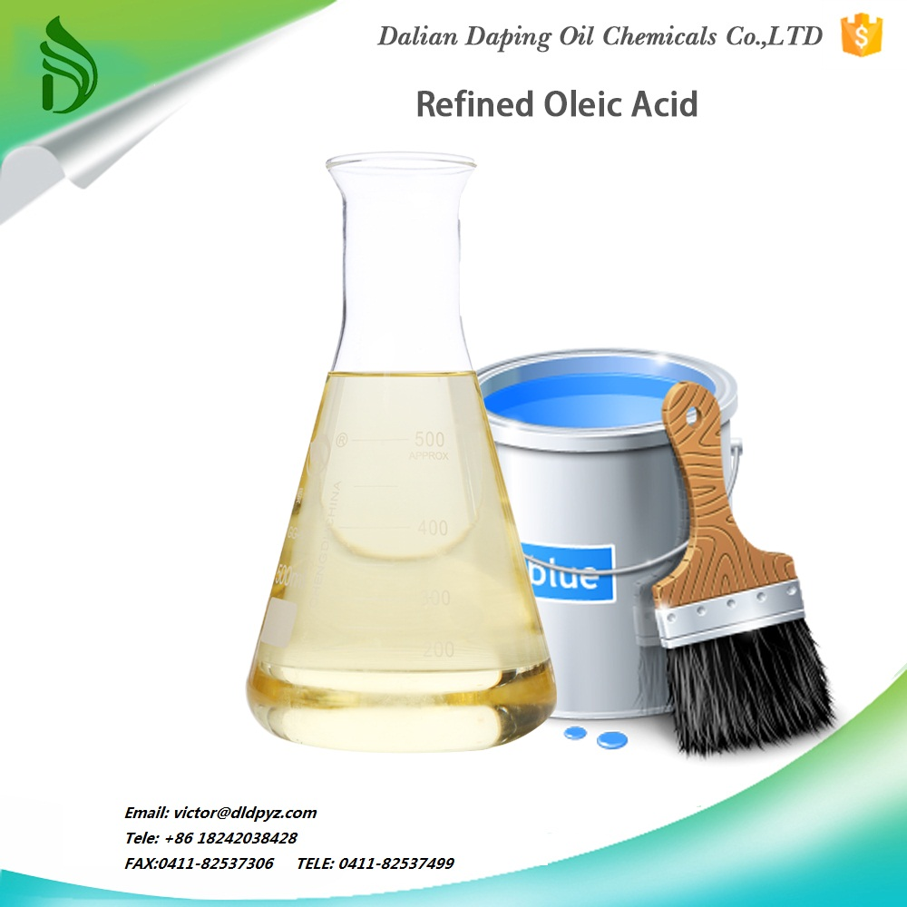 Refined oleic acid base on plant