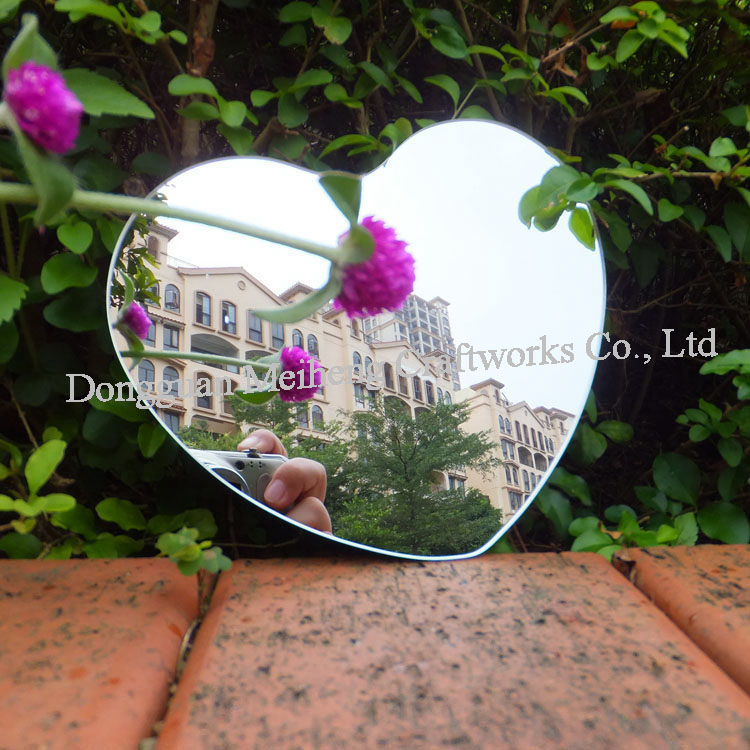 Customized Shape Adhesive Backed Acrylic PMMA Mirror Sheet Cutting
