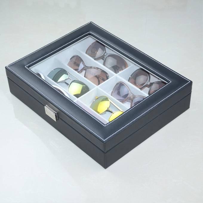 PU Leather Glasses Storage Box