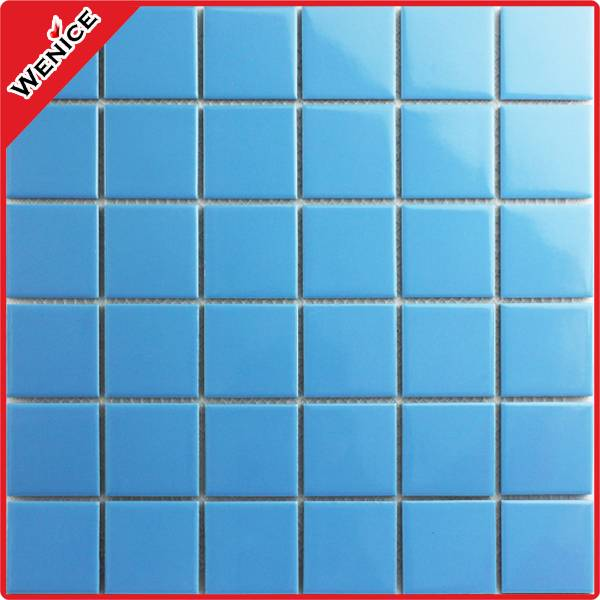 blue mosaic tiles for installed on swimming pool
