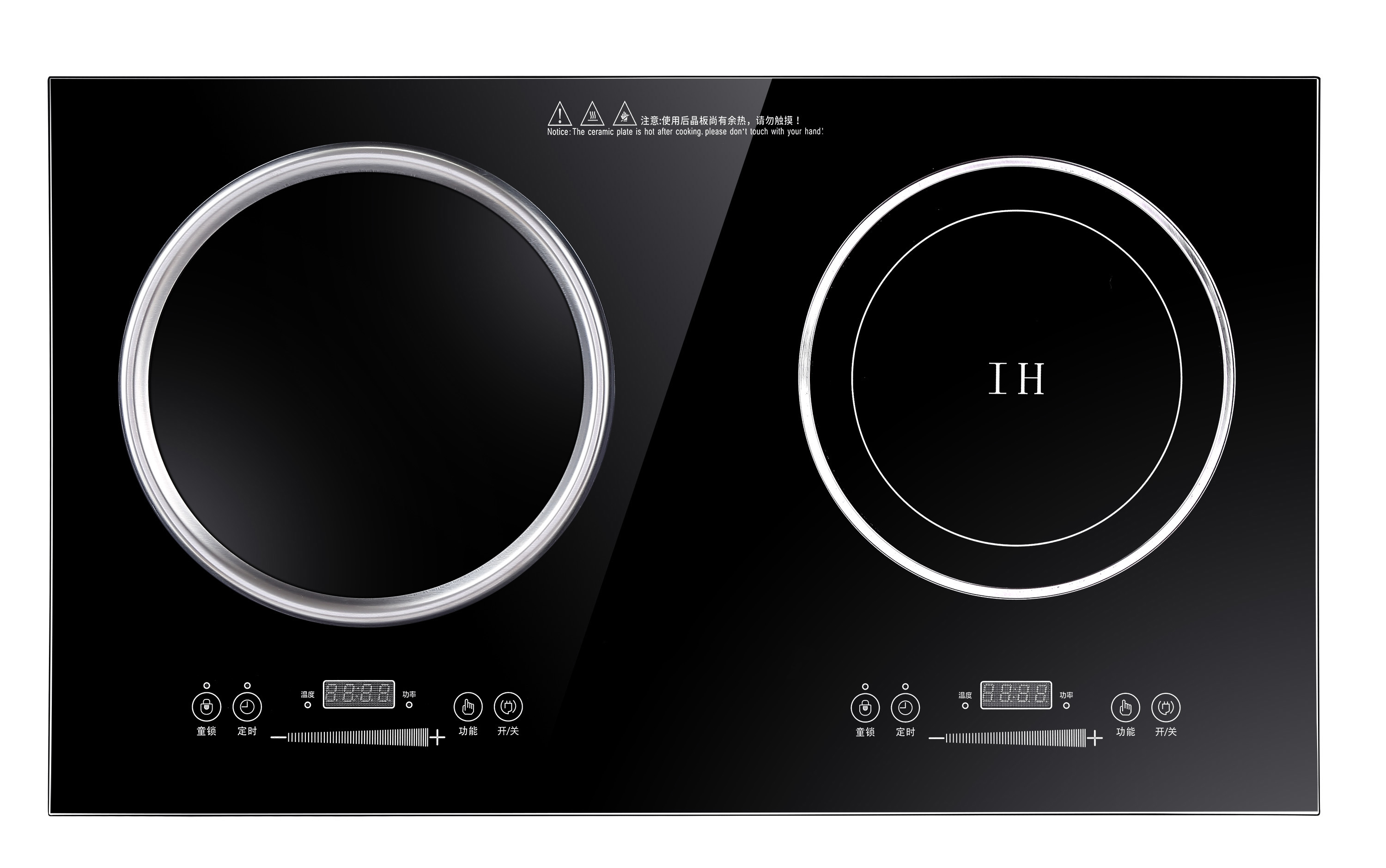 3500W Double electromagnetic high quality commercial induction cooker