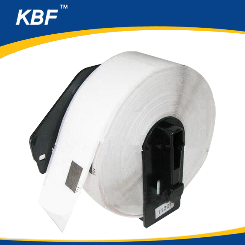 Compatible brother DK-11201 white label 29mm x 90mm x 400pcs adhesive thermal paper roll