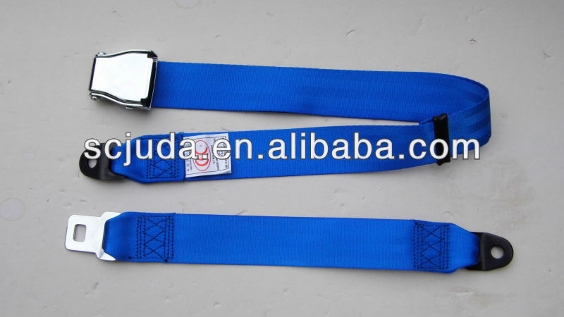 Blue Airplane seat belt& Aircraft seat belt metal mechanism