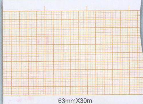 Three-Conduct Electrocardiograph Paper- 63mmX30m