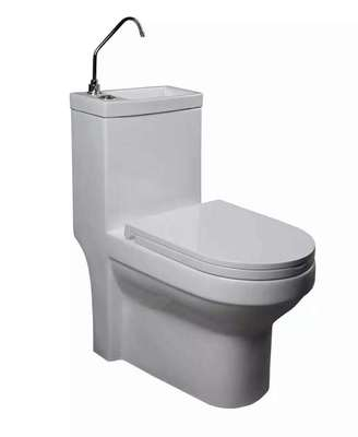 Wholesale new design toilet with basin one piece