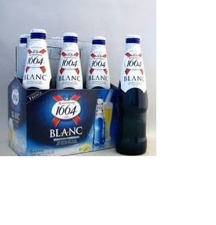 Kronenbourg 1664 Blanc and Blue Beer