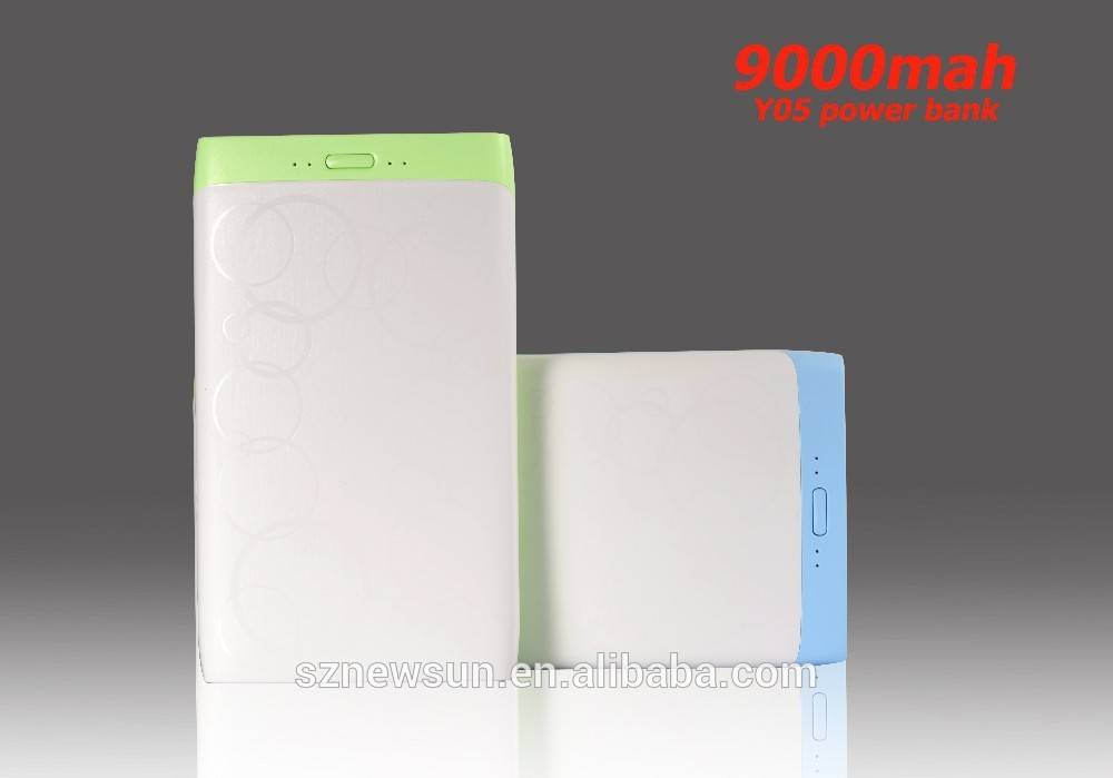 Slim power bank 9000mAh high capacity professional power bank manufacture