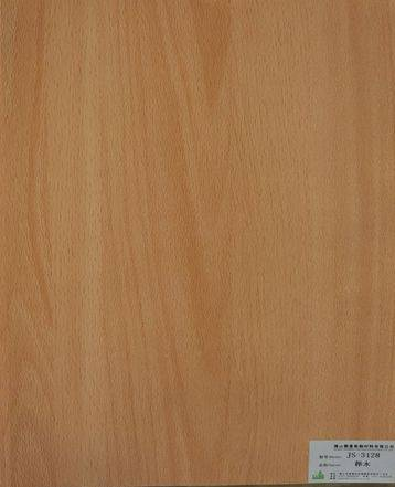 melamine paper/furniture decorative paper JS-3128 beech wood