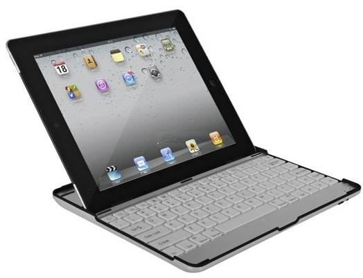 Ultrathin Aluminum Case Stand Mobile Wireless Bluetooth Keyboard for iPAD 2 3, Android mobile, PS3
