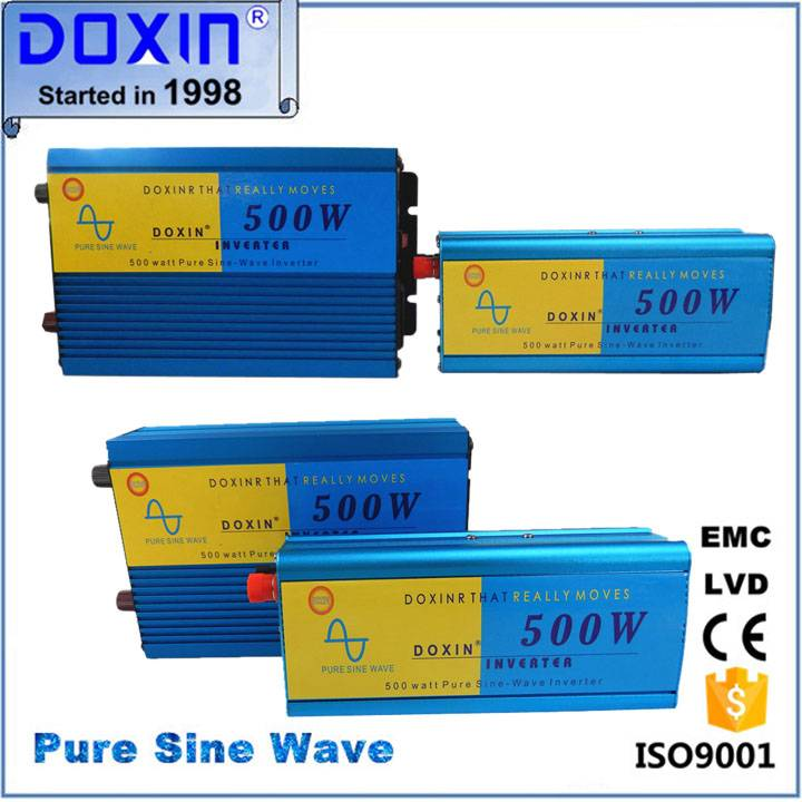 Doxin 500w pure sine wave  inverter 12v 220v for home appliance