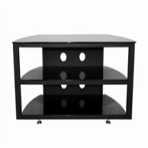 black simple design glass tv stand