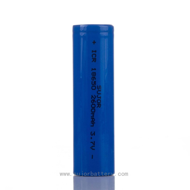 Lithium ion battery ICR18650 2600mAh 3.7V for flashlight