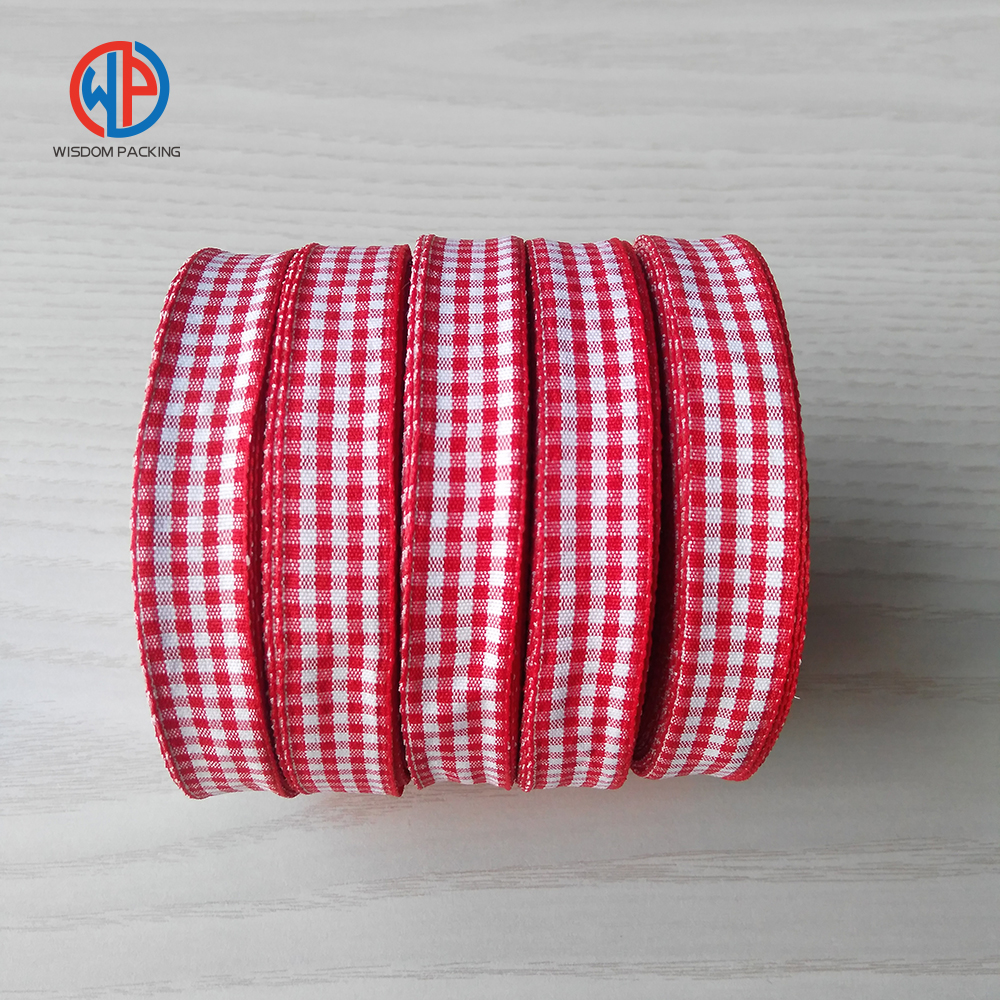 Wholesale 100%polyester tartan /checker /scottish ribbon