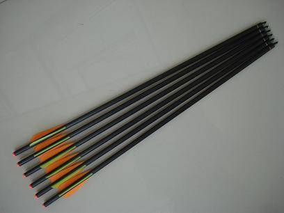 OEM Hunting Carbon Fiber Arrows,3inch rubber feathers