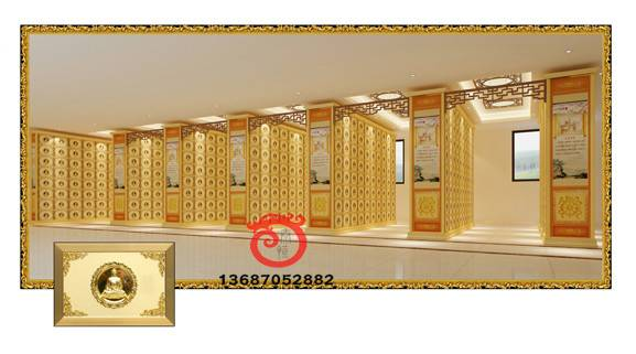 Beautiful and luxury columbairum for temple decoration