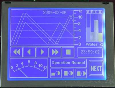 3.8 inch 320240 graphics dot matrix module