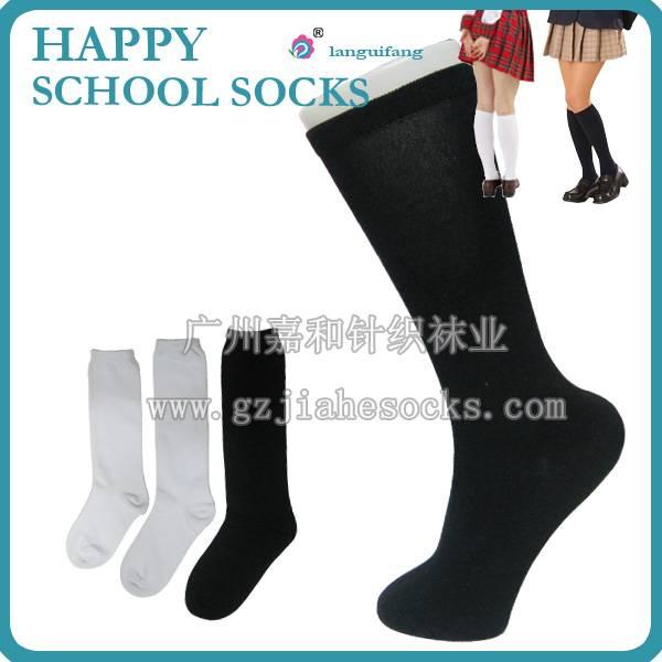 Good quality knee high uniform school socks, cotton student socks