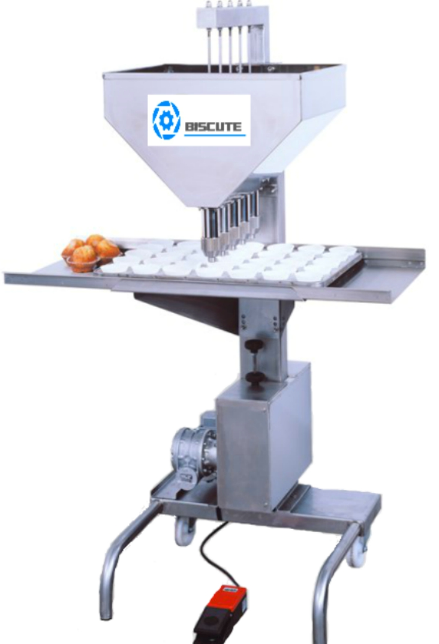 Semi atutomatic cup-cakes filling machine