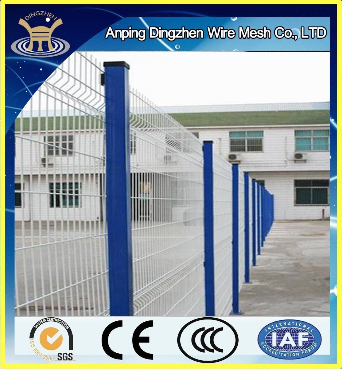hot sale cheap pvc /powder coated fence construction fencing