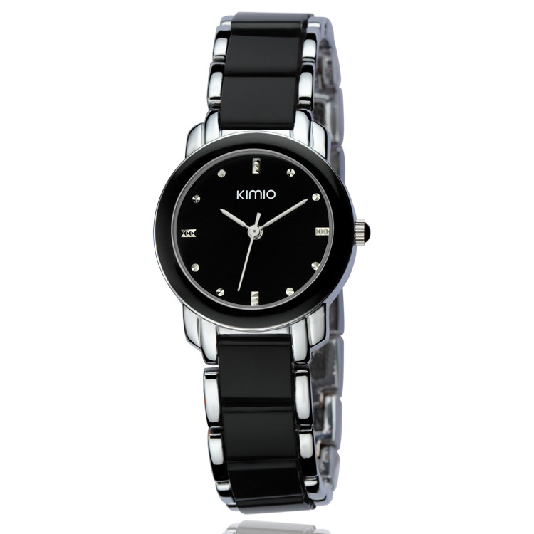 Fashion newest brand waterproof lady watches alloy-plastic quartz watches