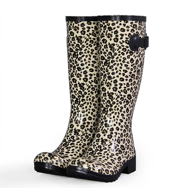 Brand new fashion Leopard colorful hunter knee high flat heel boots
