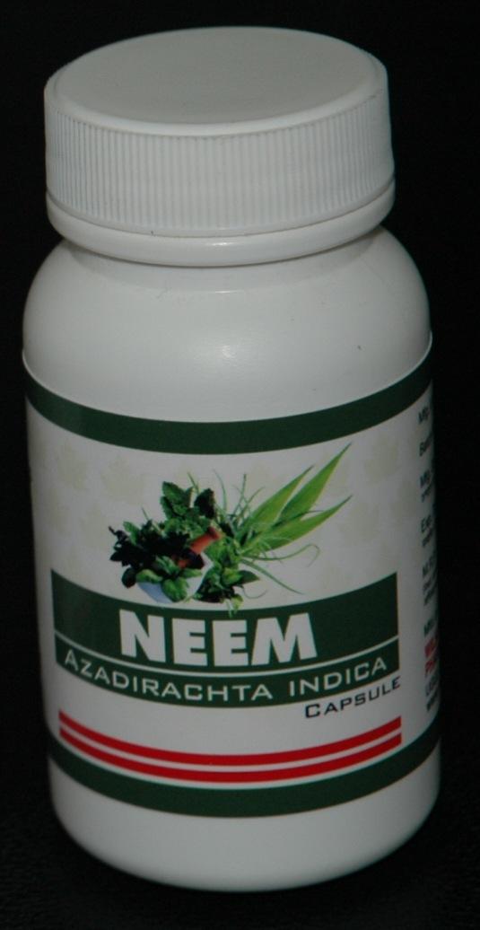 Herbal natural remedies  Neem, (Azadirachta Indica) Capsules