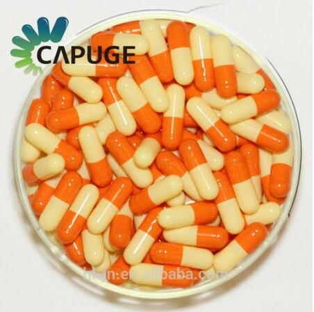Halal Empty Gelatin Capsule Two-piece Capsule Orange Size 0