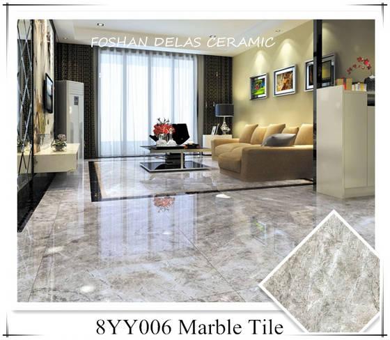 8YY006 Cloud Grey Marble Porcelain Tile 80x80 60x90