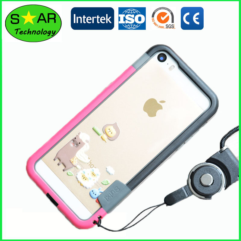 Frame Type TPU Mobile Phone Case Light Weight