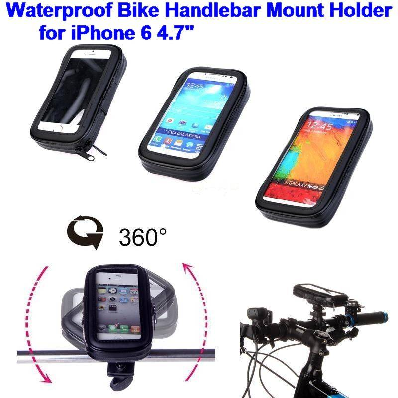 Waterproof Bicycle Bike Handlebar Stand Mount Holder Case for iPhone 6 6G 6S 4.7 iPhone6 IP6C63