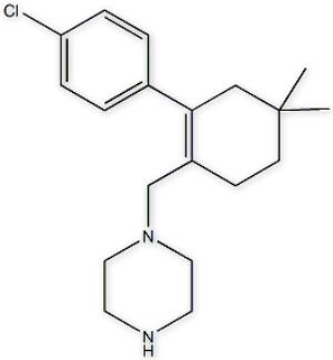 1-[[2-(4-Chlorophenyl)-4,4-dimethylcyclohex-1-enyl]methyl]piperazine,