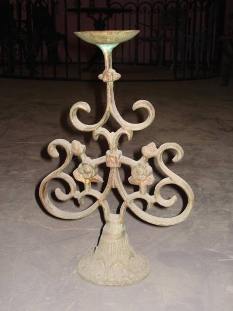 Cast Iron Candle Stand