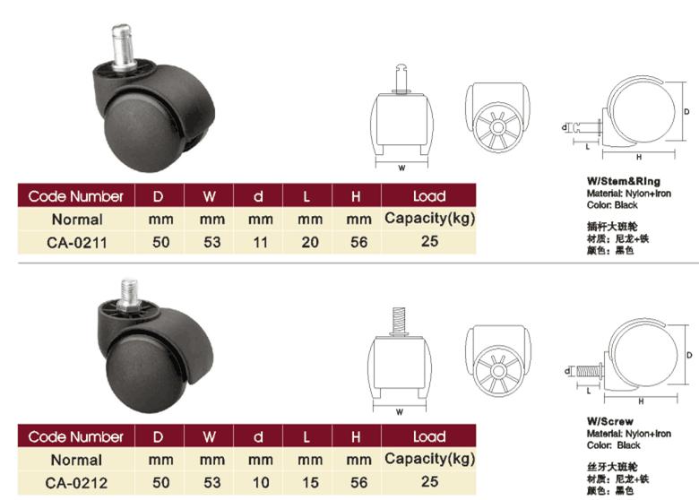 High Quality Heavy Duty Furniture Wheelchair Caster Wheels