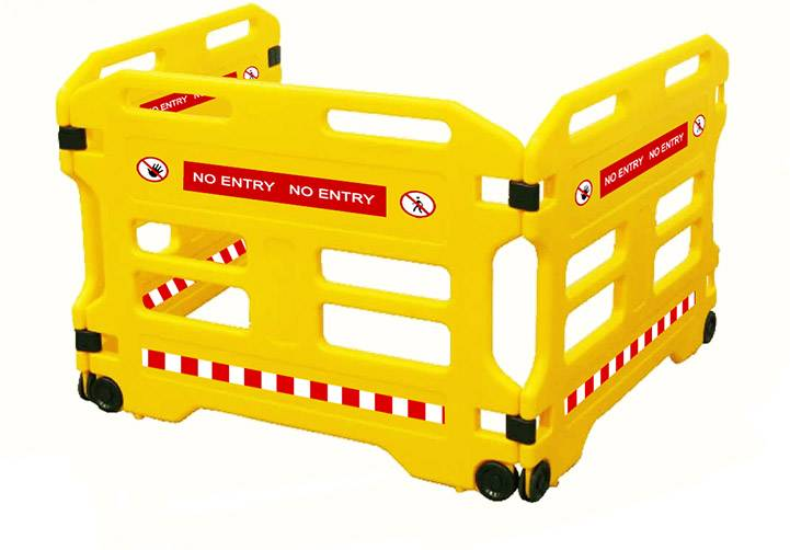 Yellow protable isolation barrier fence