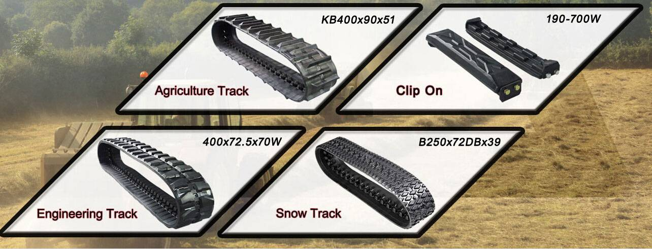 combine harvester rubber track for agricultural
