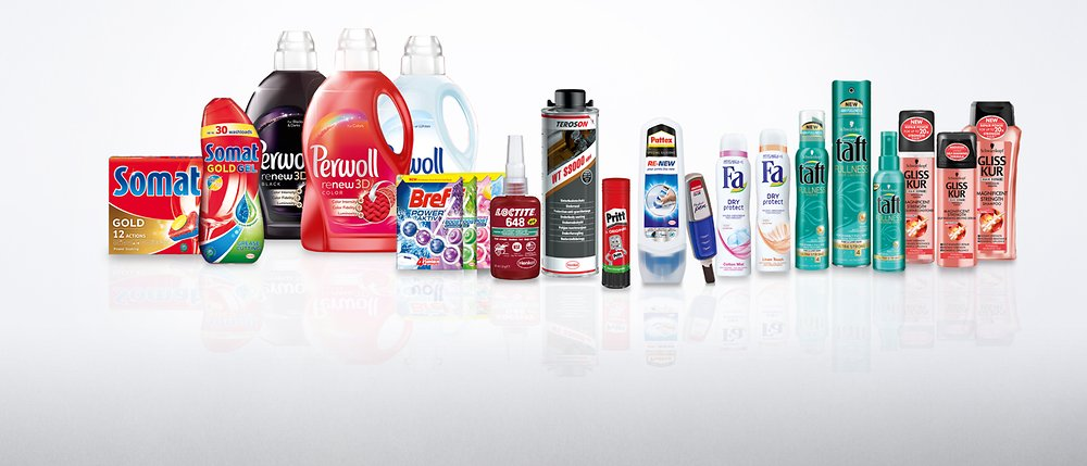 Henkel products, Loreal-Garnier Products, Johnson products, Paglieri products, Mirato, Bekutan