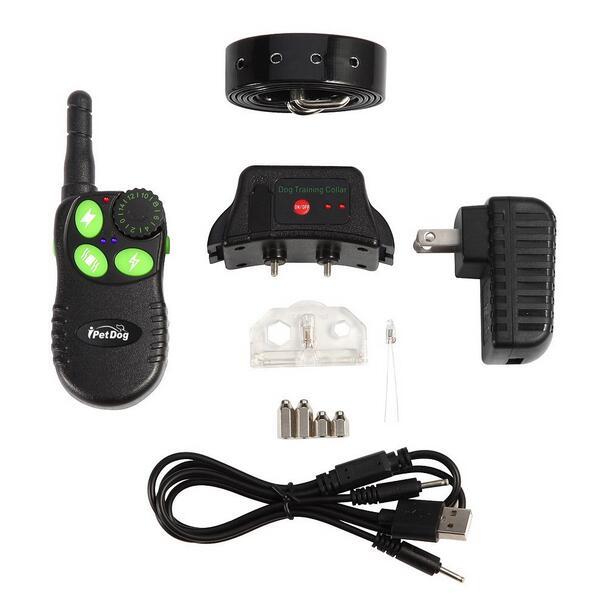 Electric dogs training collars iPetDog 828 waterproof with tpu dog collar