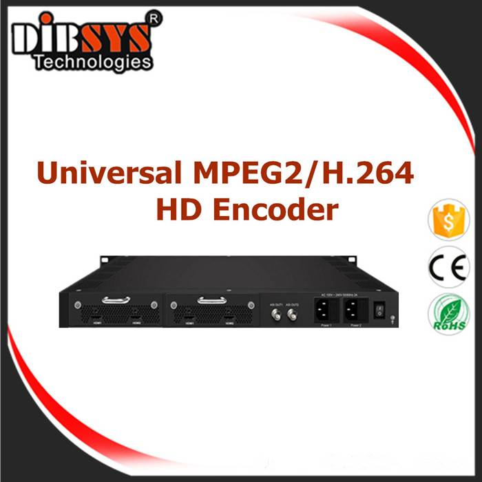 Universal 4 channels MPEG-2 and H.264 HD/SD Encoder