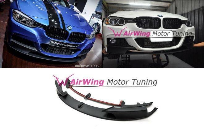 F30 - [M-TECH bumper] -M Performance style Carbon Front Lip Spoiler ((3pcs))