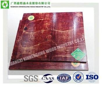 China Concrete Construction 12mm 15mm Red Faced Plywood